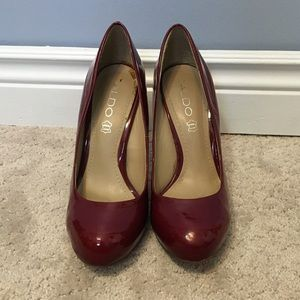 ALDO red patent shoes, size 7